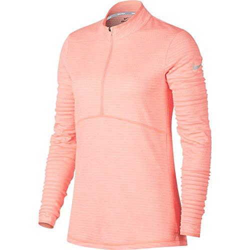 Nike Dri Fit Lightweight Half Zip Golf Pullover 2018 Women Storm Pink/Flat Silver Large (Storm Golf Pullover)