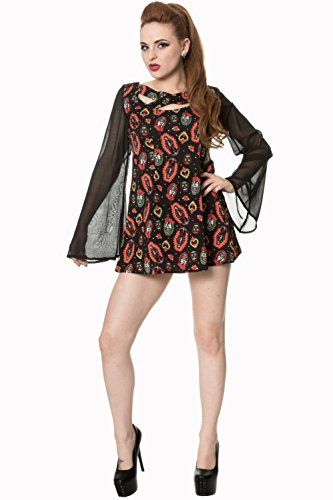 Banned Apparel - Sacred Heart Flare Sleeve Dress XL
