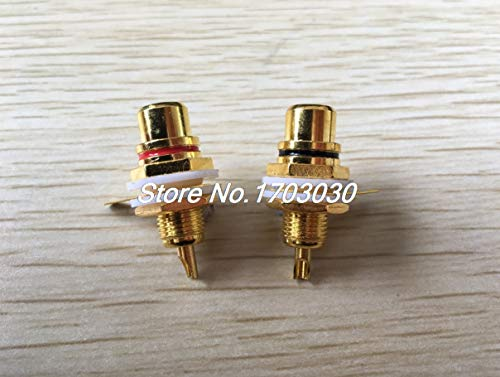 (Davitu 6pcs AMPS Gold RCA Connector Femail Chassis Sockets)