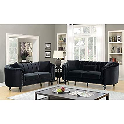 Amazon.com: Furniture of America Luddington Transitional ...