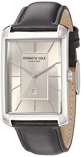 Kenneth Cole New York Men's 'Classic' Quartz Stainless Steel and Leather Dress Watch, Color:Black (Model: 10030832)