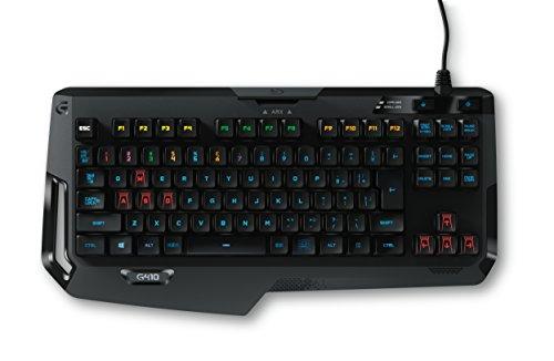 Logitech G410 Atlas Spectrum Ultra-leichte mechanische Gaming-Tastatur ohne Nummernblock (QWERTZ, deutsches Tastaturlayout) schwarz