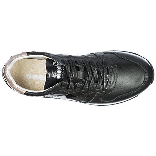 Nuevo negr Heritage Zapatos de en Piel Camaro Mujer Diadora h Zapatillas Deporte P4qxnCCw8