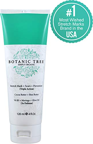 Stretch Mark Cream Remover-Decrease Stretch Marks in 93% of Customers in 2 Months-Helping Scars and Prevention w/Cocoa Butter, Shea,Vit E,Centella Asiatica and Avocado-The Best For Pregnancy ()