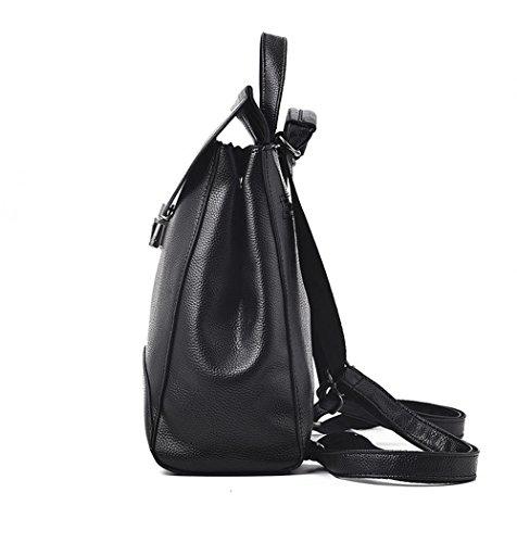 Purse Leather for Black Black Designer Girls Shoulder and Women PU Mini Backpack gIxwdwRq