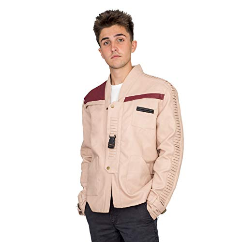 Star Wars Replica Costumes (Star Wars Men's Finn Costume Replica Leather Jacket (Adult)