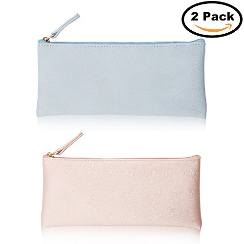 Cy3Lf PU Leather Pencil Cases Pouch Bag with Zipper,Simple Pencil Pouches, Makeup Pouch, Cosmetic Pouch - Pouch Soft Zipper Sunglasses Pu