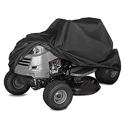 Kasla Waterproof Cover for Riding Lawn Mower and Ride-On Garden Tractor - Resistant Water UV Wind Dust Mildew, Heavy Duty 210D Oxford Outdoor Shelter