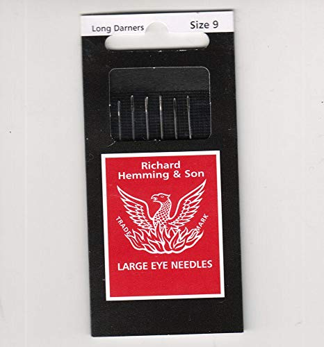 Richard Hemming Needles - Long Darners Size 9 - Made in England ()