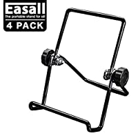 Multi Purpose Table Easels for Display Tablet Kindle, Book Display Stand for Cookbook Recipe, Desktop Plate Stand Record Frame Holder for Picture Photo Art with Anti Scratch Vinyl Coated Wire