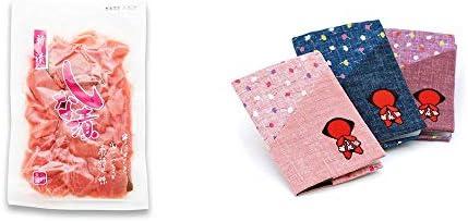 [2点セット] しな漬け(160g)・おねがいさるぼぼ カードケース【ピンク】
