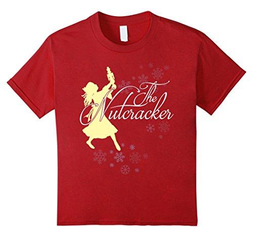Kids THE NUTCRACKER BALLET GIFT SHIRT, Ballerina Christmas Idea 12 Cranberry