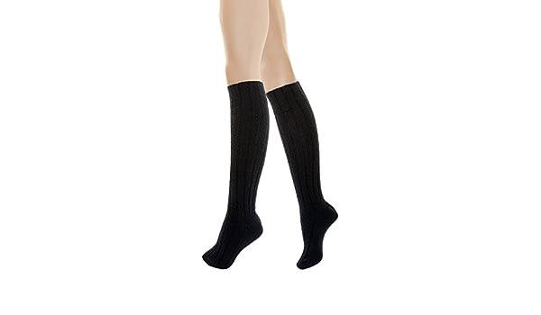 Calzedonia - Calcetines hasta la rodilla - para mujer Negro negro: Amazon.es: Ropa y accesorios