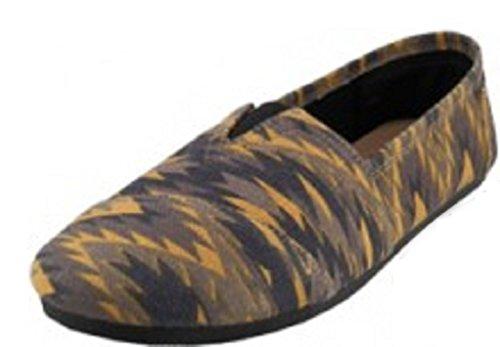 EasySteps Slip-On Damenschuhe mit gepolsterter Einlegesohle Ikat Braun