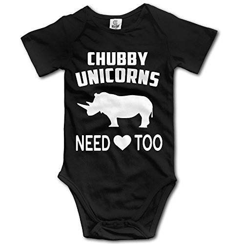 Frouren Chubby Unicorn Need Love Too Unisex Short Sleeve Bodysuit Romper Jumpsuit Outfits
