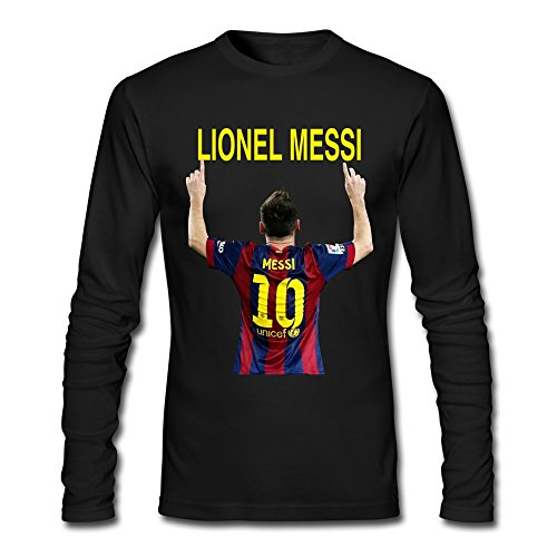AOPO Men's Long Sleeve Barcelona Lionel Messi Shirt