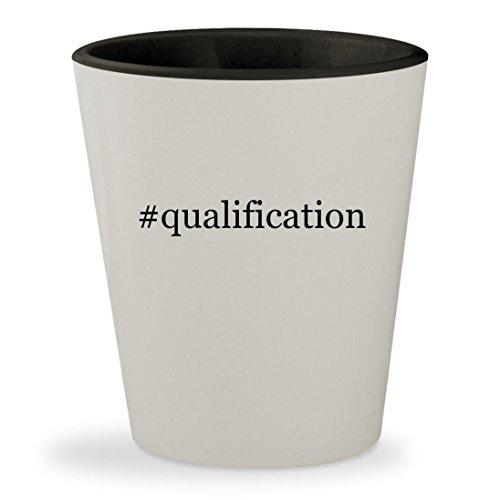 #qualification - Hashtag White Outer & Black Inner Ceramic 1.5oz Shot Glass