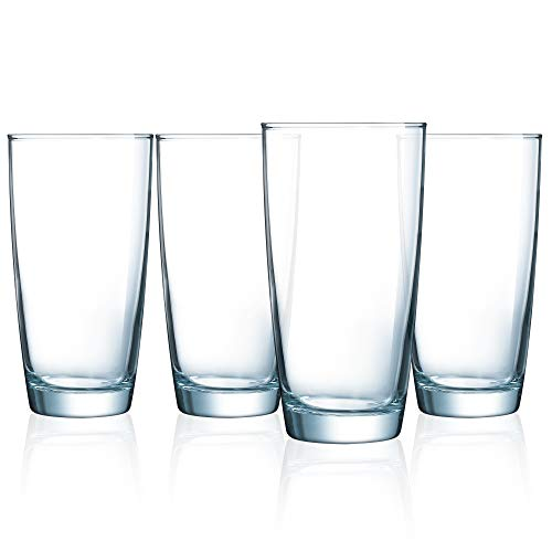 Luminarc N7521 Atlas 16 Ounce Cooler Glass, Set of 4, 1 Clear ()