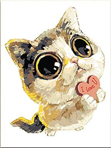 Pintura Digital De Números Animal De Dibujos Animados Perro Lindo ...