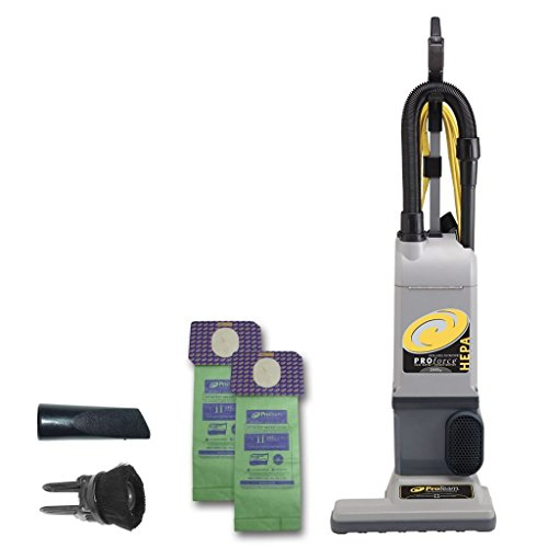 ProTeam ProForce 1500XP Bagged Upright Vacuum Cleaner with HEPA Media Filtration, Commercial Upright Vacuum with On-Board Tools, Corded ()