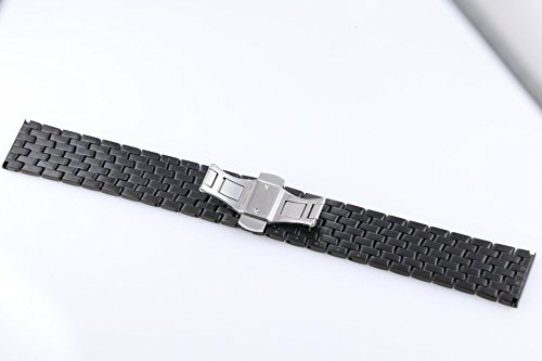 23mm Wide Changeable Watch Belt Bracelets for Men Black Metal Watch Bands Stainless Steel by autulet (Image #2)