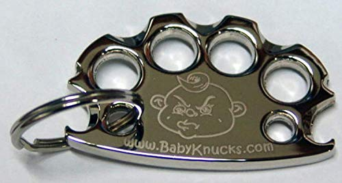 Babyknucks SILVER Knuckles Bottle Opener Key Ring & confidence booster- as seen at Think Geek