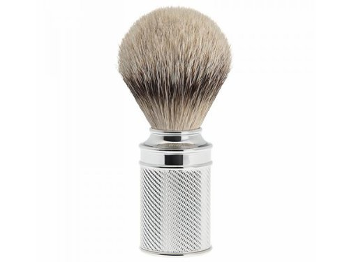 Muhle Shaving Brush, Silvertip Badger Hair, Chrome Metal Handle by Muhle