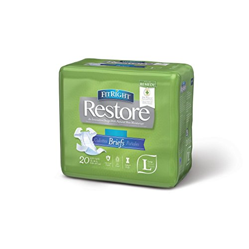 UPC 884389936934, Medline Fitright Restore Briefs with Remedy Skin Repair Cream, Large, 20 Count (Pack of 4)