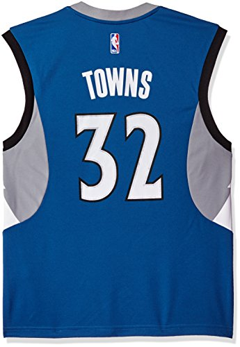 fan products of NBA Men's Minnesota Timberwolves Karl-Anthony Towns Replica Player Road Jersey, Large, Blue