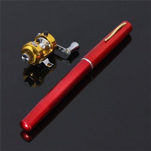 新到着 Krismile B00TPJR1KO ® ® 38インチミニポータブルポケットアルミニウム合金釣りロッドペン素晴らしいギフト(レッド) B00TPJR1KO, AI ネットショップ:e58f6c6f --- senas.4x4.lt