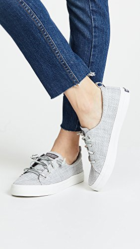 Sider Women's Silver Top Sneaker Vibe Novelty Crest Sperry Metallic 5wTEax