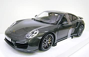 PORSCHE custom 1/18 Porsche 911 (991) Turbo S 2014 Agate Gray Metallic