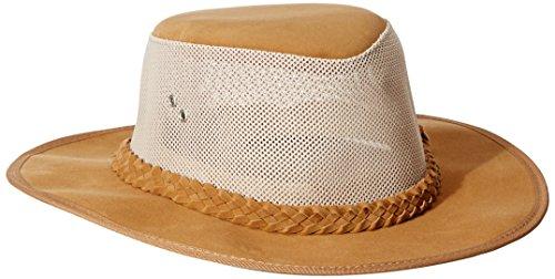 Dorfman Pacific Co. Men's Soaker with Mesh Sides, Tan, (Dorfman Pacific Mesh Safari Hat)