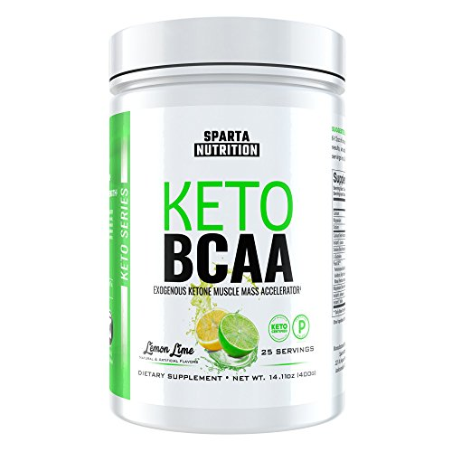 Sparta Nutrition Keto BCAA: Keto Aminos and Ketone Salt Powder Drink, Exogenous Ketone Powder Supplement for Intra / Post-Workout Muscle Recovery with BHBs, PeakO2, BCAAs, Lemon Lime, 25 (Lemon Lime Energy Immune Support)