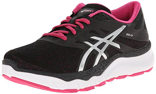m Shoe Asics silver Running hot Onyx Pink 33 Women's AEAwUqOf