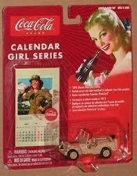 Johnny Lightning Coca Cola Brand Calendar Girl Series #12 Military Willys Jeep
