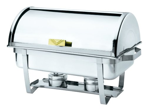 Browne (575135) 9 qt Stainless Steel Rectangular Economy Roll Top Chafer ()