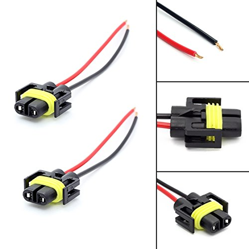 PartsSquare 2X 880 H11 H11 H11 Plug Wiring Harness Sockets Harness For Fog Driving Lights (Pontiac Grand Fog Driving Prix)