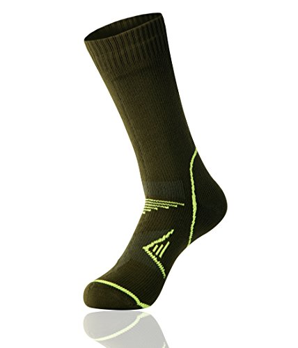 Bluelasers Ultralite Mid-Calf Waterproof Breathable Socks for Hiking,Climbing,Sports,Outdoors,Camping (Army Green, XL)