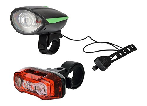 Dark Horse Combo of Bicycle USB Rechargeable Front Head Light and Horn and Twin Eye Tail Light (Green and Red) Price & Reviews