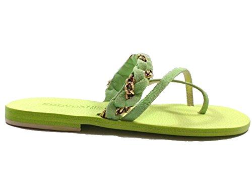 Zapatos Mujer EDDY DANIELE 37 Sandalias Verde Gamuza AW168/AW169
