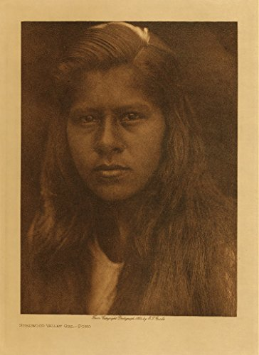 11 x 14 Old Tin Metal Signs Sherwood Valley Girl (Pomo) Native American Indian Photo wall art - Cheyenne Indian Print