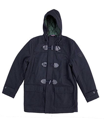 Tommy Hilfiger Toggle (Tommy Hilfiger Men's Wool Blend Toggle Hooded Coat, Navy (S))