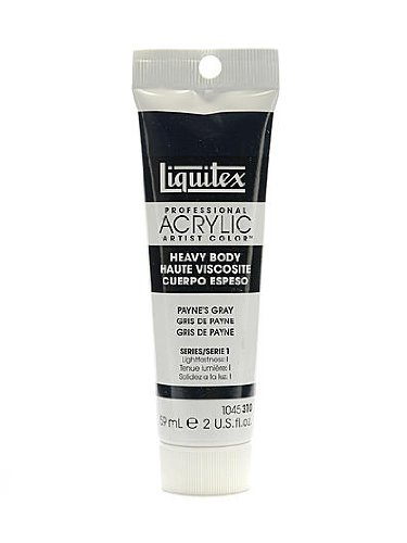 Liquitex Heavy Body Professional Artist Acrylic Colors payne's gray 2 oz. [PACK OF 3 ]