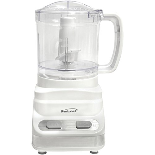 Brentwood Mini Appliances FP-546 3 Cup Food Processor, White