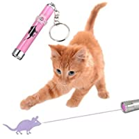 Interactive LED Light Pointer For Cats Kitten Interactive Shape Light Toy Exercise Chaser Play Pet Scratching Training Tool