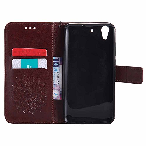 Slim Card Function Pu For 5a Honor Mandala Leather Flip Y6 Kickstand Cover Case With Design Pink Soft Wallet Dfly Premium Embossed honor Ii Protective Holder Slot 5a Ii Brown Huawei x6ZqWnggU