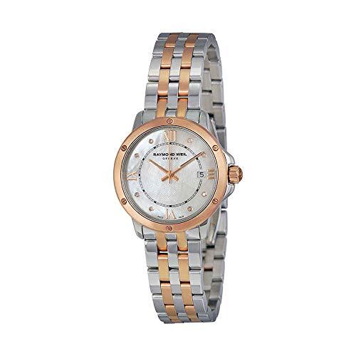 Raymond Weil Tango Mother of Pearl Diamond Dial Two Tone Stainless Steel Ladies Watch - Raymond Diamond Tango Weil Watch