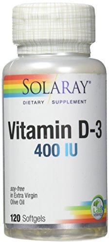 Solaray Vitamin D-3-400 IU - 120 Softgels