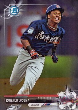 Amazoncom 2017 Bowman Draft Chrome Bdc 39 Ronald Acuna